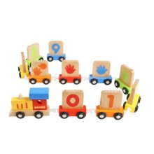 NUMBER TRAIN EDUCATION WOODEN TOY
