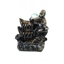 FENG SHUI CHINESE WATER FOUNTAIN - LAUGHING BUDDHA 8066