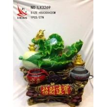CHINESE FENG SHUI CABBAGE WATER FOUNTAIN TABLE DECORATION LX3269