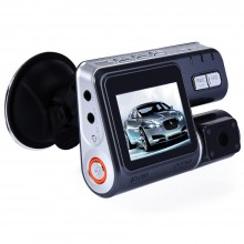 CAR DVR CAMERA VIDEO RECORDER HD 1080P DUAL LENS DASHBOARD VEHICLE CAMCORDER G-SENSOR Black