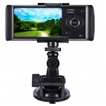 2.7 INCH LCD CAR DVR CAMERA VIDEO RECORDER HD 720P DUAL LENS GPS DASHBOARD VEHICLE CAMCORDER G-SENSOR Gray