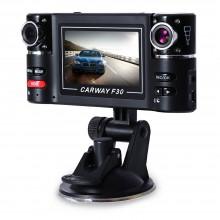 F30 2.7 INCH CAR DVR CAMERA VIDEO DRIVING RECORDER HD DUAL LENS DASHBOARD VEHICLE CAMCORDER G-SENSOR Black