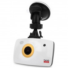 2.7 INCH DUAL LENS CAR DVR CAMERA FULL HD 1080P LOOP CYCLE RECORDING NIGHT VISION White