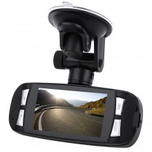 2.7 INCH TFT 140 DEGREE ANGLE CAR DVR CAMERA FULL HD 1080P LOOP CYCLE RECORDING PARKING MONITOR Black