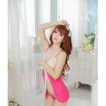Pinky Sweet Open Bust Chemise YW688