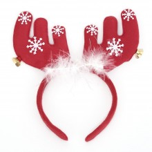 CUTE CHRISTMAS GIFT CARTOON ANIMAL SNOWFLAKE BELL DECORATION (DEER ANTLER) Deer Antler