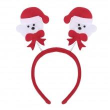 (10 UNITS) FASHIONABLE CHRISTMAS GIFT CARTOON ELASTIC HEADWEAR DOUBLE HEAD (LITTLE BEAR) Little Bear
