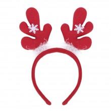 (10 UNITS) FASHIONABLE CHRISTMAS GIFT CARTOON ELASTIC HEADWEAR DOUBLE HEAD (DEER ANTLER) Deer Antler