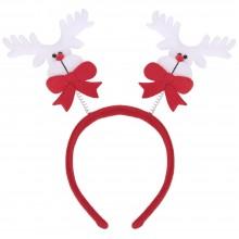 FASHIONABLE CHRISTMAS GIFT CARTOON ELASTIC HEADWEAR DOUBLE HEAD (DEER) Deer