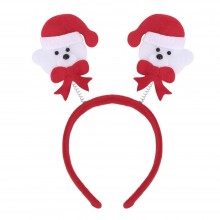 FASHIONABLE CHRISTMAS GIFT CARTOON ELASTIC HEADWEAR DOUBLE HEAD (LITTLE BEAR) Little Bear