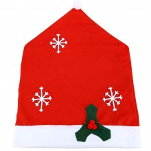 SANTA CLAUS CHRISTMAS HAT CHAIR COVER (RED) Red