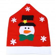 SANTA CLAUS SNOWMAN CHRISTMAS HAT CHAIR COVER (SNOWMAN) Snowman