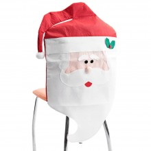 CHRISTMAS CHAIR COVER WITH MR SANTA CLAUS FOR DINNER DECOR (MR. SANTA CLAUS) Mr. Santa Claus