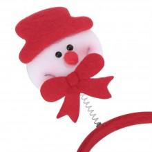 (10 UNITS) CHRISTMAS GIFT CARTOON ELASTIC HEADWEAR DOUBLE HEAD (DEER) Deer