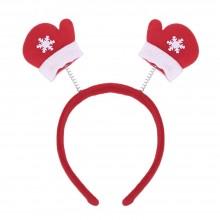 (10 UNITS) FASHIONABLE CHRISTMAS GIFT CARTOON ELASTIC HEADWEAR DOUBLE HEAD (GLOVE) Glove