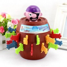 Running Man Pop Up Pirate Lord Barrel Roulette Game Party - XL Size
