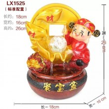CHINESE FENG SHUI WATER FOUNTAIN - 1525 财神爷 - WEALTH GOD GIFT SET