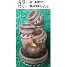 FENG SHUI WATER FOUNTAIN - 16822 POT OFFICE HOME DECO GIFT