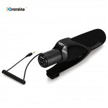 COMMLITE CVM V30 PHOTOGRAPHY INTERVIEW SHOTGUN RECORDING MIC MICROPHONE FOR DSLR CAMERA (BLACK) Black