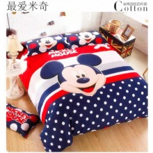 6 in 1 Set High Quality 800TC Mickey Mouse Bedsheet Queen King Size