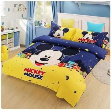 6 in 1 Set High Quality 800TC Mickey Minnie Mouse Bedding Queen King Size