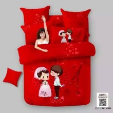 Wedding 6 in 1 Set Quality 800TC Couple Bedding Bed Sheet Queen King Size