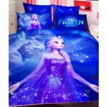 6 in 1 Set Quality 800TC Frozen Bedding Bed Sheet Queen King Size