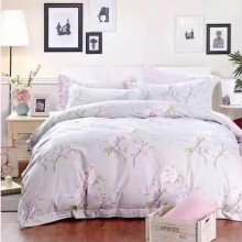 6 in 1 Set Quality 800TC Pink Flower Bedding Bed Sheet Queen King Size