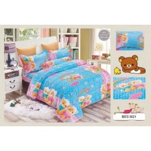4 in 1 Set High Quality 800TC Rilakkuma Bedding Bed Sheet Super Single Size