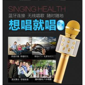WS858 KTV Portable Karaoke Bluetooth Microphone Speaker Mic Wireless KTV