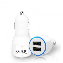 STARLO HI-SPEED CHARGING IN CAR CHARGER (WHITE)