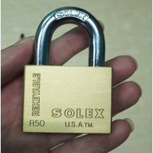 SOLEX Premium Rekeyable Padlock 35mm - 70mm (BRASS)