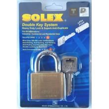 SOLEX Premium Double Key System Padlock 40mm 50mm (BRASS)